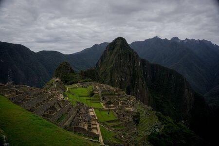 View of Machu Picchu from the citadel, Cusco Peru