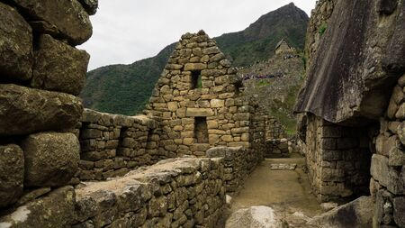 Architecture of the streets of Machu Picchu, Cusco Peru