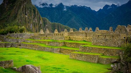 Royal Palace and the Acllahuasi of the Incas in Machu Picchu, Peru