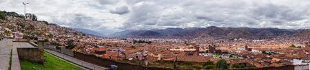 Panoramic of the City of Cusco Peru
