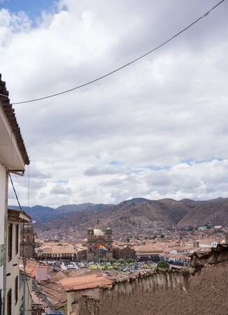 Panoramic view of the Cusco Peru Banque d'images