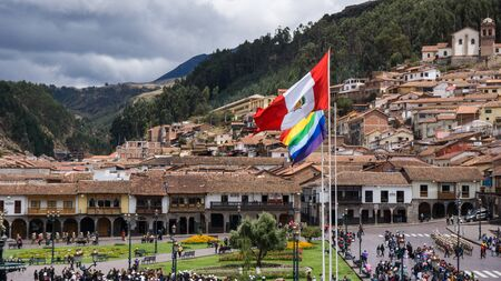 main square of Cusco in Peru Banque d'images