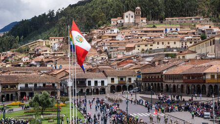 main square of Cusco in Peru