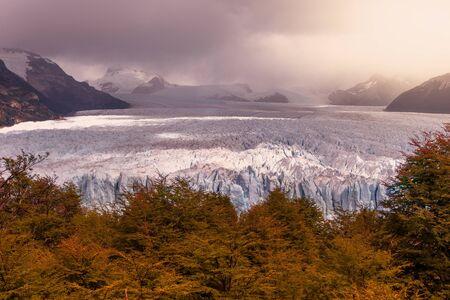 autumn in Perito Moreno Glacier in Patagonia Argentina city of El Calafate