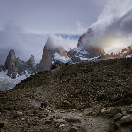 Trail to Fitz Roy, walking and hiking activity in El Chatel Argentina
