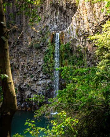 La Leona waterfall in Radal 7 cups in the region of Maule Chile