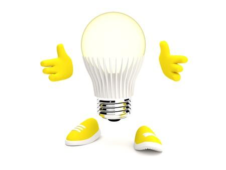 glows: Led Lamp glows yellow