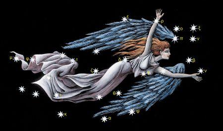 virgo: Icono de Virgo del zodiaco Foto de archivo