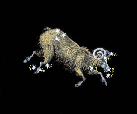costellazioni: Ariete zodiaco icona