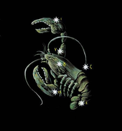 Constellations: Cancer zodiac icon