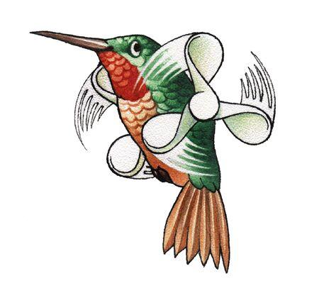 teeny: hummingbird Stock Photo