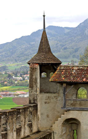 The Castle of Gruyères (château de Gruyères), located in the medieval town of Gruyères, Fribourg, is one of the most famous in Switzerland.