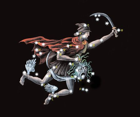 Constellation The Hero, rescuer of Andromeda (Perseus)  Stock Photo