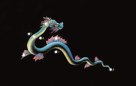 Constellation the Water Snake (Hydrus)