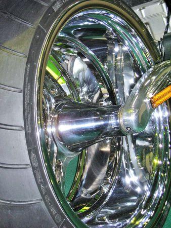 Rear wheel of a motorcycle
