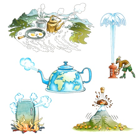 Geysers and volcanos Stock Photo - 10747840