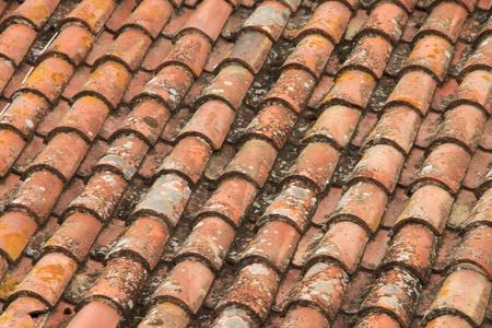 Tile roof in medieval a city
