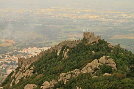 Castle of the Moors  Sintra, Lisbon, Portugal  Stock Photo