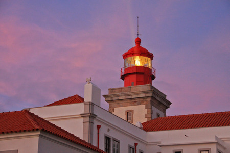 Lighthouse in the most west point of the Europe  Cabo da Roca, Portugal