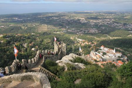 moors: Castle of the Moors  Sintra, Lisbon, Portugal  Editorial