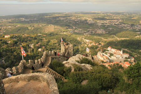 Castle of the Moors  Sintra, Lisbon, Portugal  Editorial