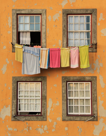 Traditional drying the linen