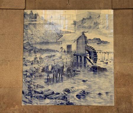 Azulejo  ceramic tile  in Porto