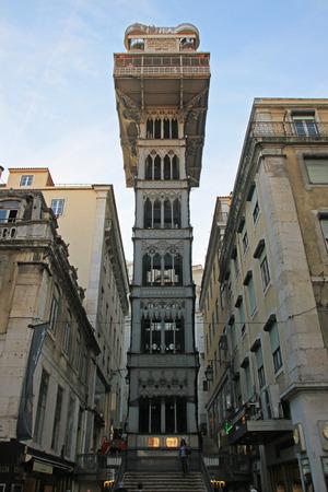 justa: Santa Justa Elevator Lift  Elevador de Santa Justa , Lisbon, Portugal