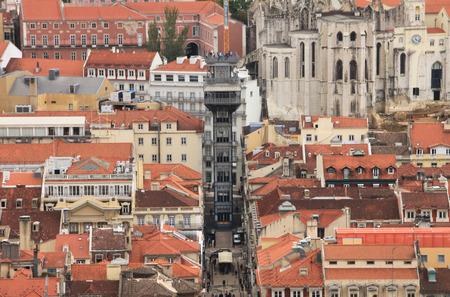 elevador: Santa Justa Elevator Lift  Elevador de Santa Justa , Lisbon, Portugal