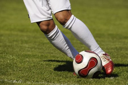 soccer,football, player with a ball Stock Photo - 3185913