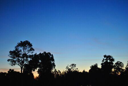 sunset  ,ubonratchathani,thailand Stock Photo