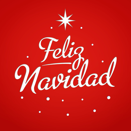Merry christmas card template with greetings in spanish feliz merry christmas card template with greetings in spanish feliz navidad lettering with star m4hsunfo