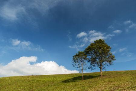 Berg und blauer Himmel Standard-Bild - 29880507