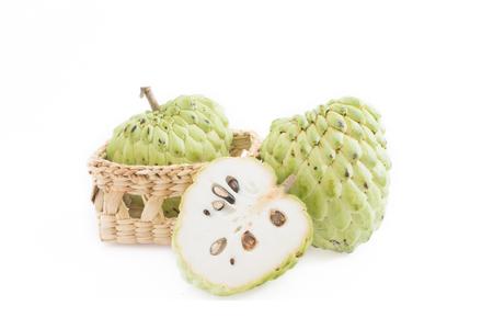 Zucker Apfel auf weißem Hintergrund isolieren Standard-Bild - 32016114