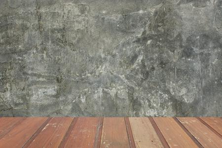 Holz und Beton Hintergrund Standard-Bild - 32233770