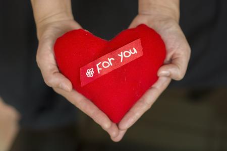 Hand und Herz Standard-Bild - 47286432