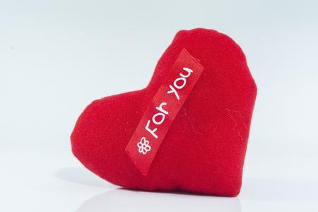 Rot Herz isoliert auf der weißen Hintergrund Standard-Bild - 47286434
