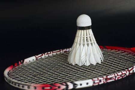 Schläger und Federball für Badminton Sport. Standard-Bild - 49117563