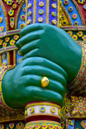 Hands of Giant of The Emerald Buddha Temple Stock Photo