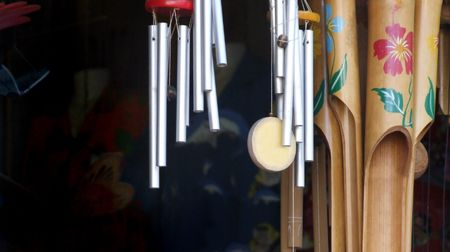 to chime: International Wind Chimes Stock Photo