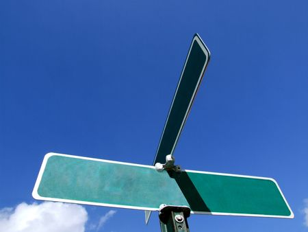 possibility: Blank Street Sign - Advertisement - Potential & Possibility Stock Photo