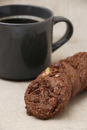 Triple Chocolate Cookies Stockfoto