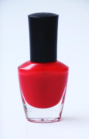 polish: Red Nail Polish Stock Photo
