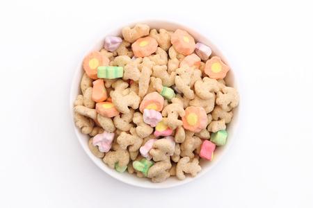 cereal: Cereal Marshmallow Foto de archivo