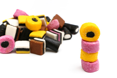 indulgence: Licorice Sweets Stock Photo