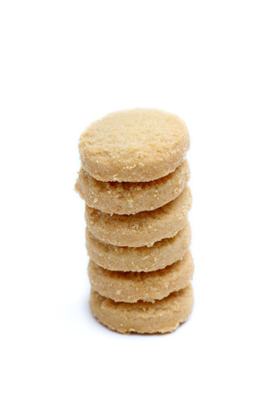 indulgence: Shortbread Cookies Stock Photo