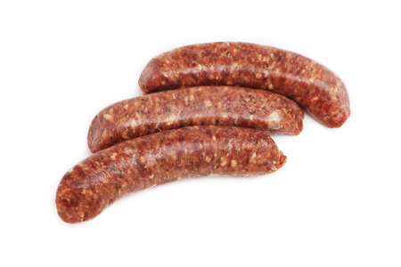 Raw Venison Sausages