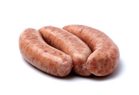 생 돼지 고기 소시지 스톡 콘텐츠
