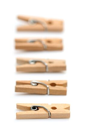 clothes pins: Clothes Pins on white background