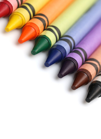 colorful paint: Crayons Stock Photo